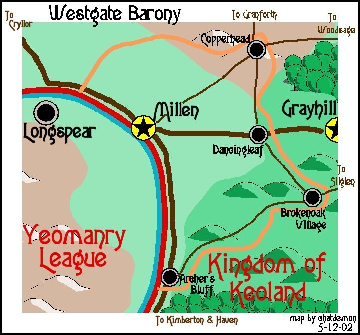 Map of the Westgate Barony