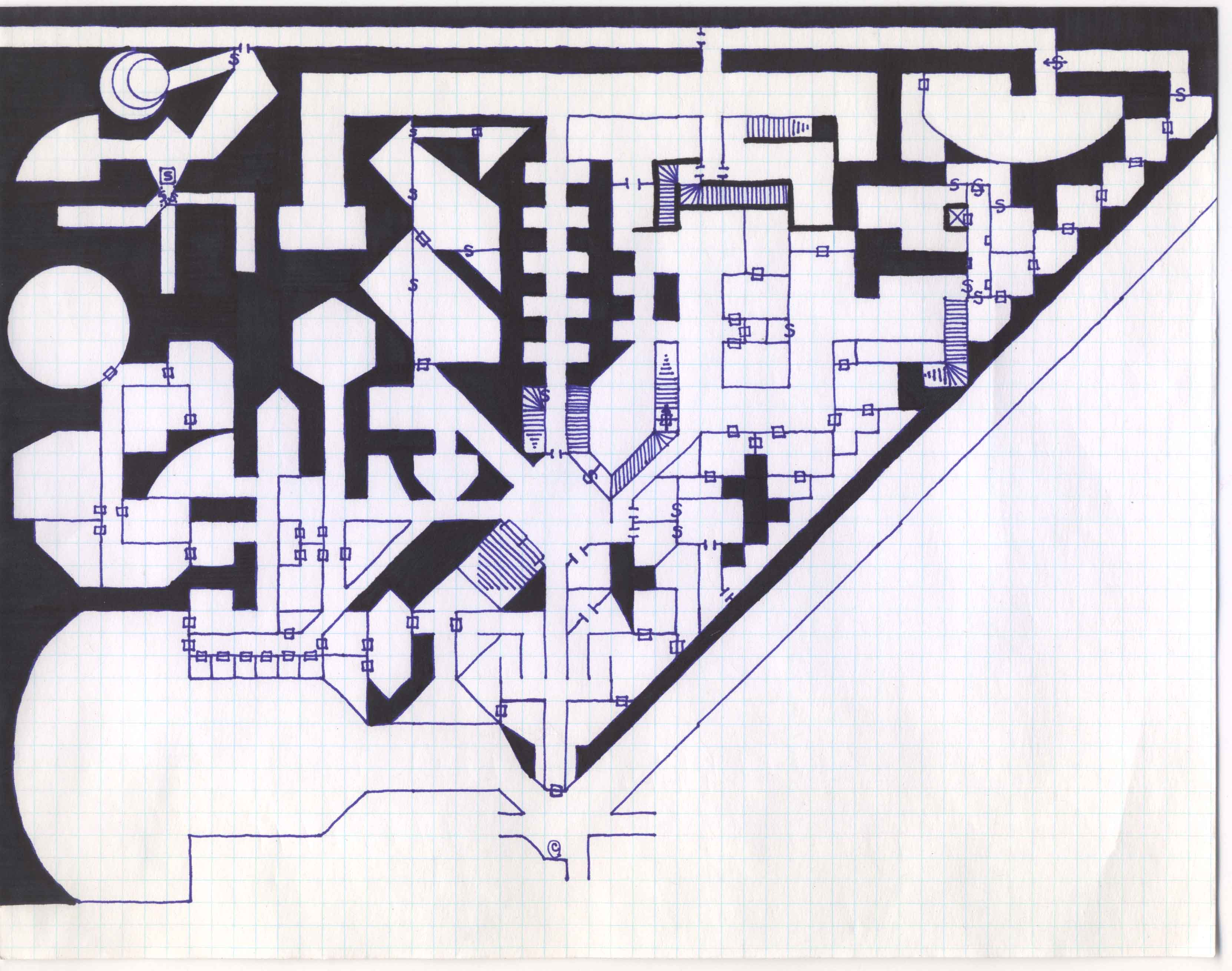 Grodogs greyhawk castle archive grodogs version of greyhawk castle first version of map biocorpaavc Image collections